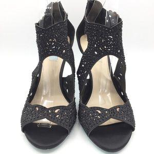 Betsey Johnson Black Embellished Heels